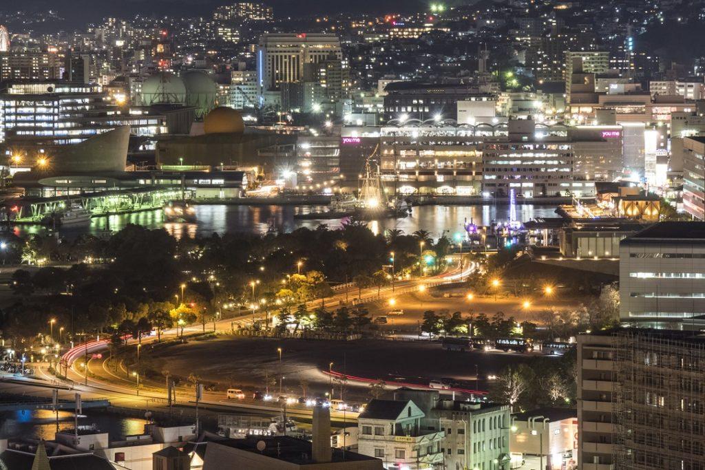 グラバースカイロード展望所からの新世界三大夜景、長崎の夜景