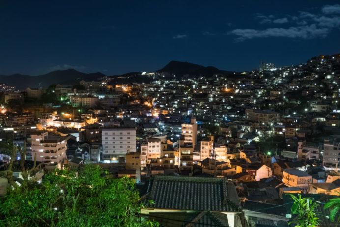 大浦展望公園からの長崎の夜景