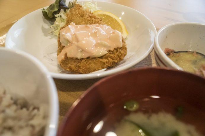 長崎県庁レストラン シェ・デジマの松浦アジフライ定食
