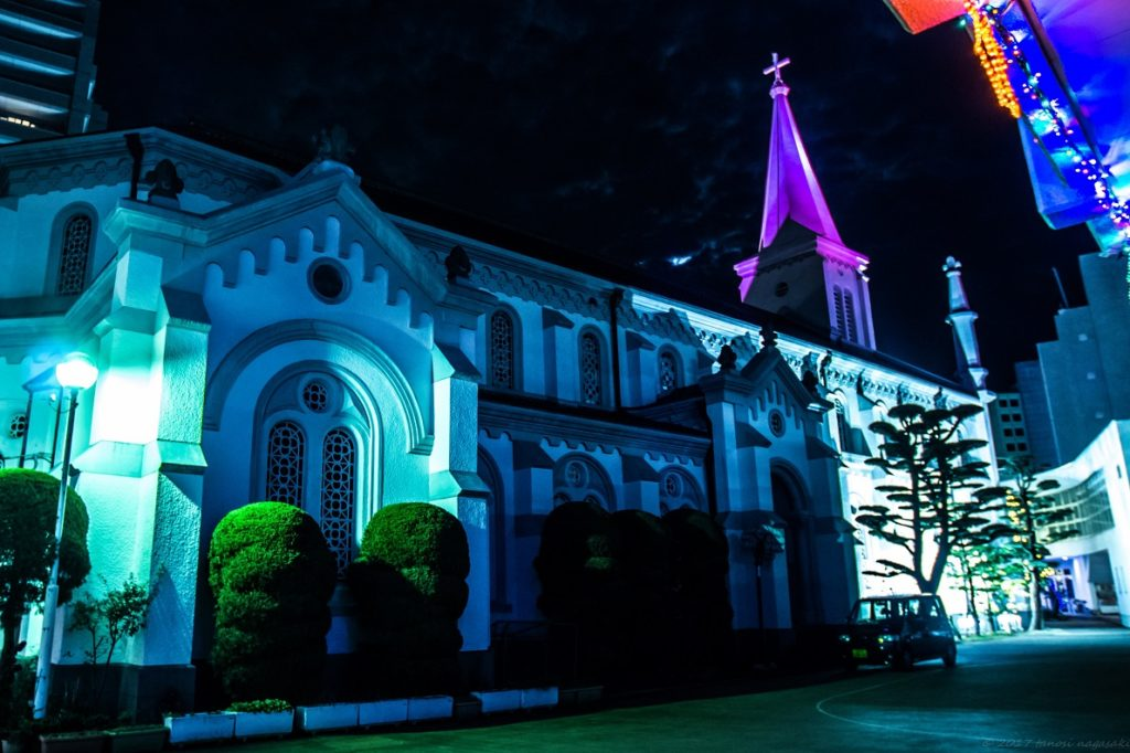 中町教会のイルミネーション