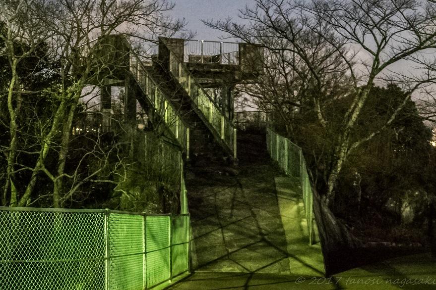 風頭公園の展望台(長崎市伊良林町)の夜