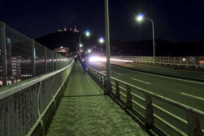 旭大橋への徒歩ルート