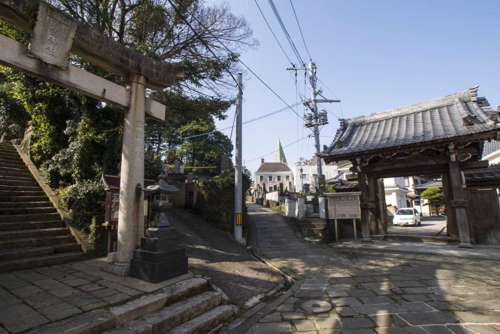 祈りの三角ゾーン(長崎市相生町)