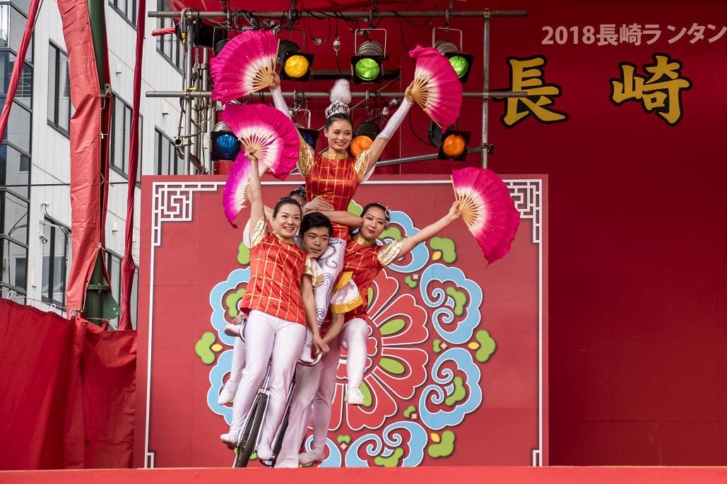 長崎ランタンフェスティバルの中国雑技(中央公園)