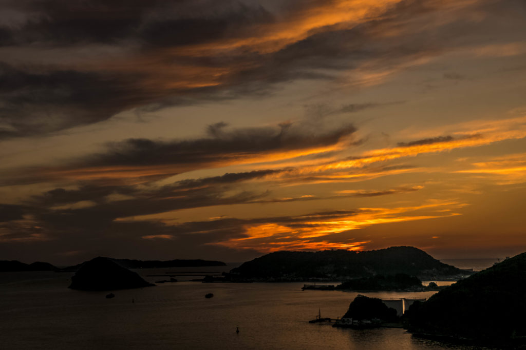 女神大橋からの夕景