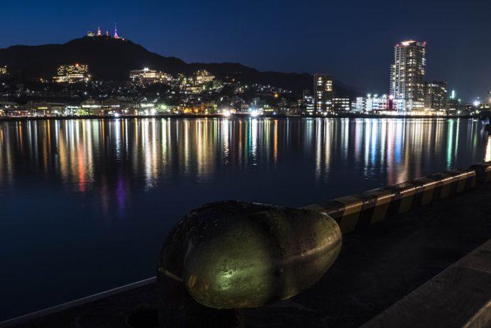 長崎港ターミナルふ頭からの長崎の夜景