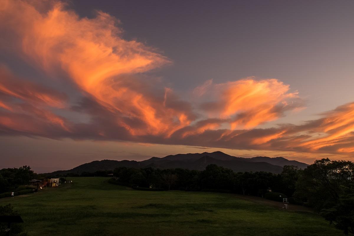 唐八景公園からの夕景