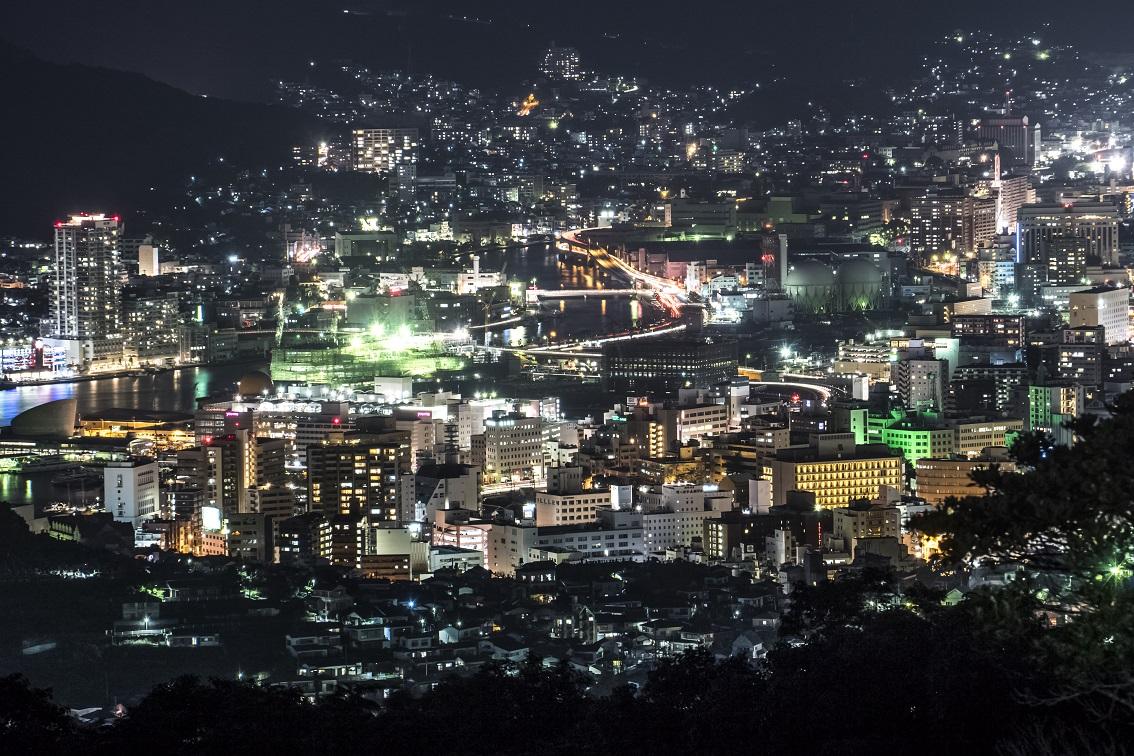 唐八景公園からの新世界三大夜景認定、長崎の夜景