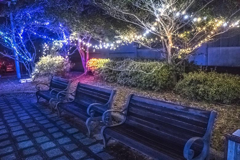 潮見花公園のイルミネーション (平戸市生月町館浦地区)
