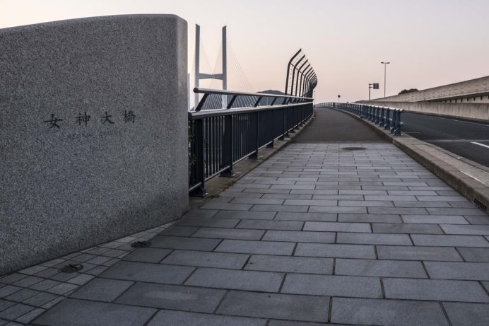 女神大橋へのルート