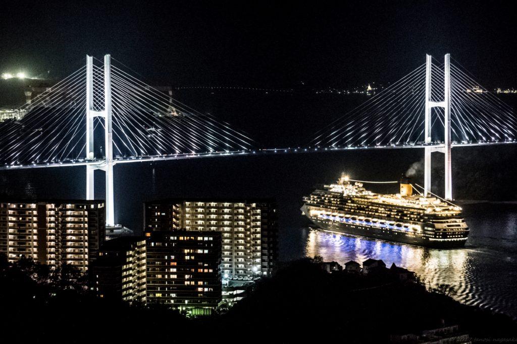 鍋冠山展望台からの女神大橋