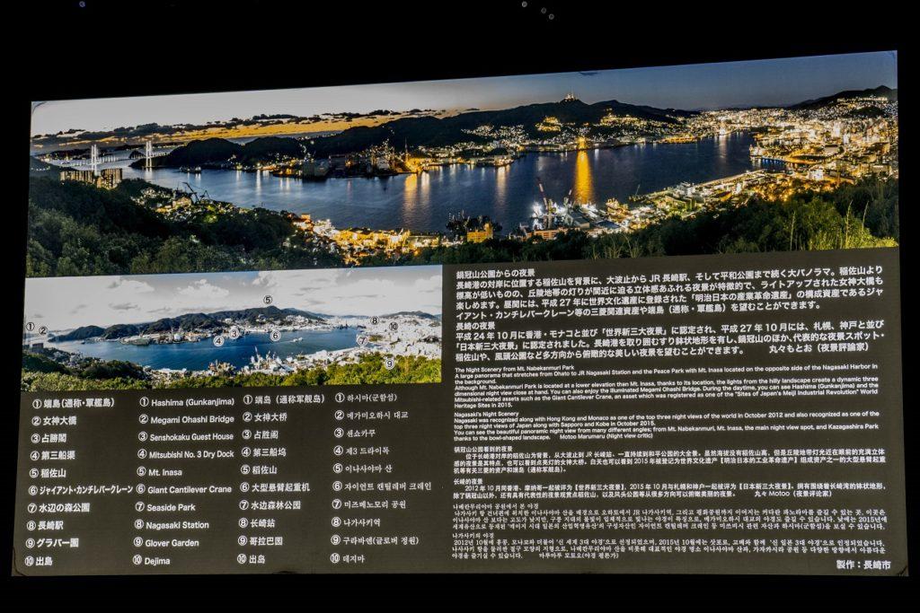鍋冠山公園展望台の説明版