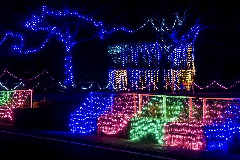 五島市【教会&万葉公園のイルミネーション】をまるっと紹介!~みいらく光のまちづくり