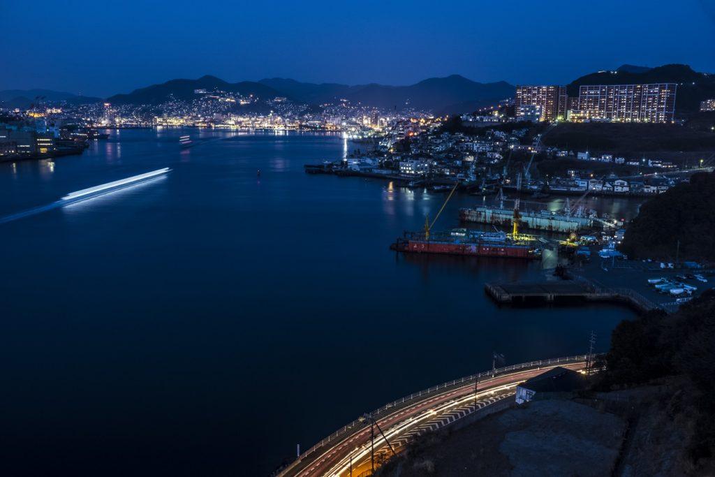 女神大橋からの新世界三大夜景認定、長崎の夜景