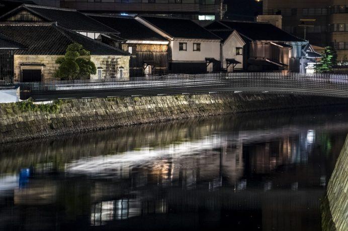 出島橋からの長崎の夜景
