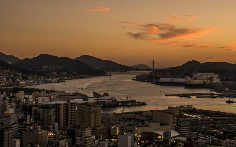 立山からの長崎の夕景
