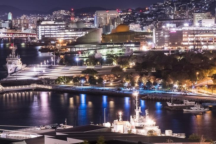 グラバー園(長崎市南山手町)の展望所からの長崎の夜景