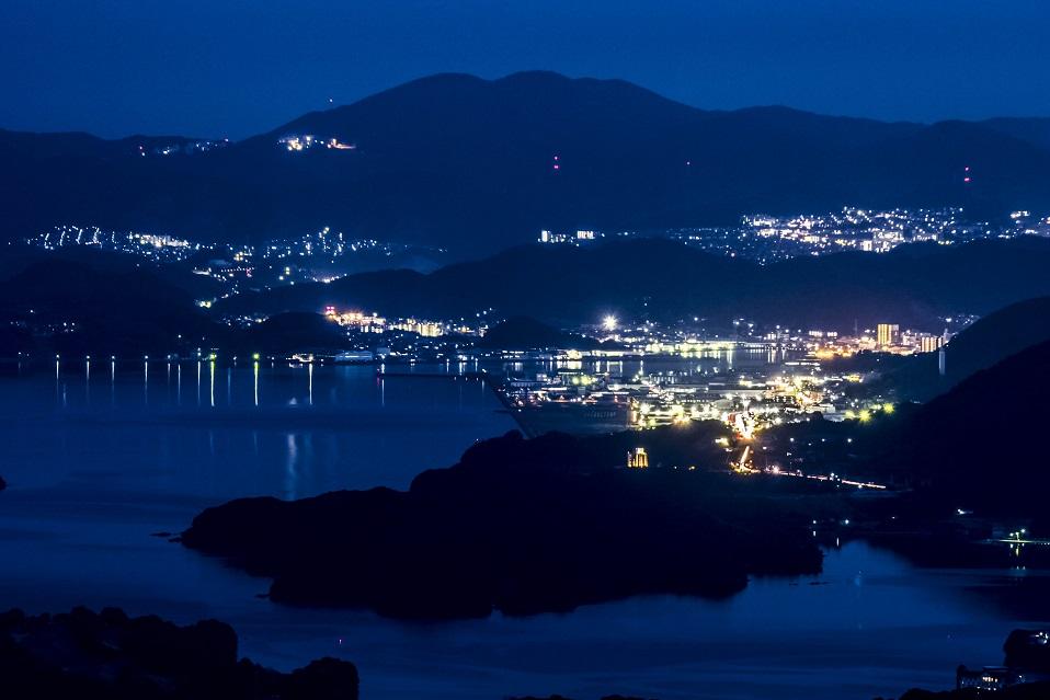 「琴海赤水公園の夜景」~【車内から見れる!】ただしエンジンOFFで
