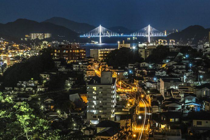 立山公園からの長崎の夜景