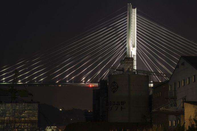 小ヶ倉町1丁目埠頭からの夜景