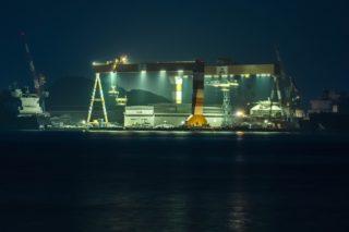 「小ヶ倉町埠頭の夜景」~車内鑑賞よし!けど、美しさはLevel1