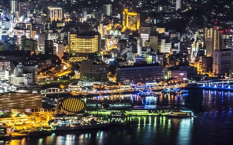 稲佐山山頂展望台からの新世界三大夜景認定、長崎の夜景