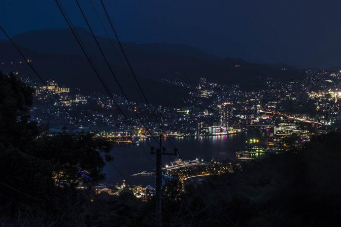 星取山からの長崎の夜景