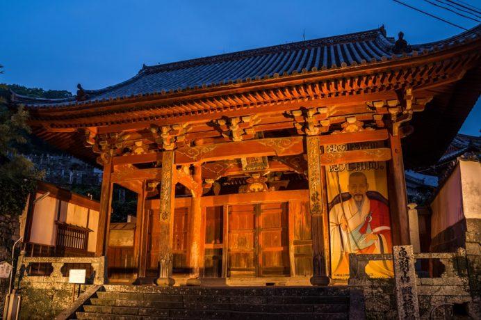 興福寺山門(あか門)のライトアップ