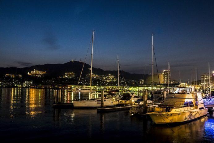 出島ワーフからの長崎の夜景