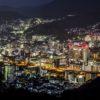 「稲佐山登山道路・スカイブリッジの夜景」~ロープウェイとの協奏曲