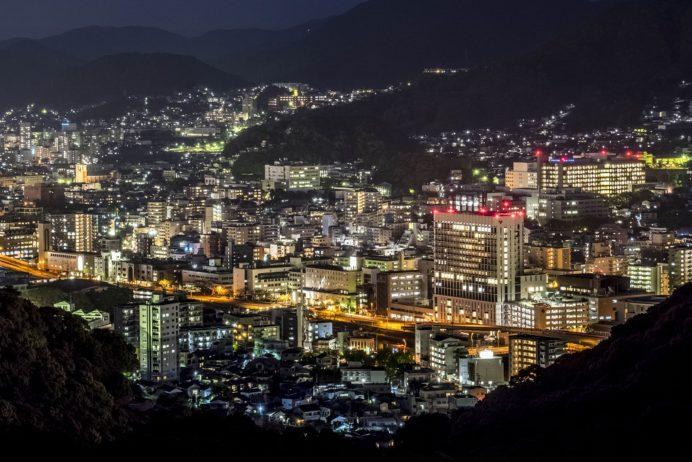 稲佐山登山道路・スカイブリッジの長崎の夜景