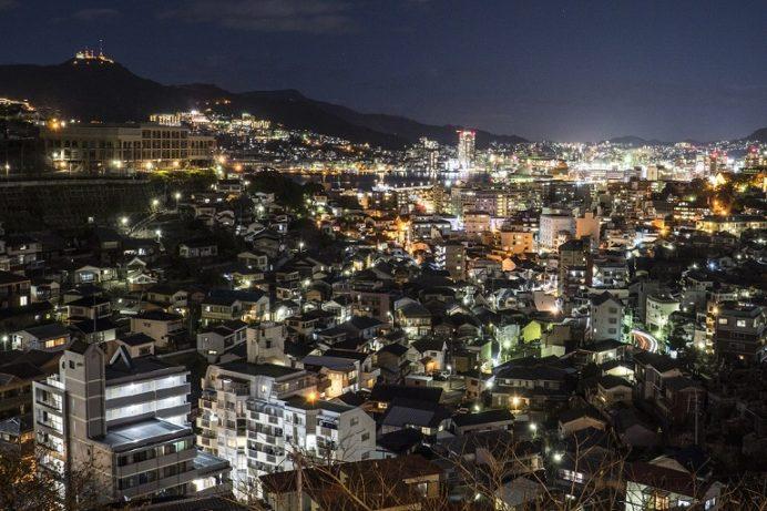 出雲近隣公園からの新世界三大夜景、長崎の夜景