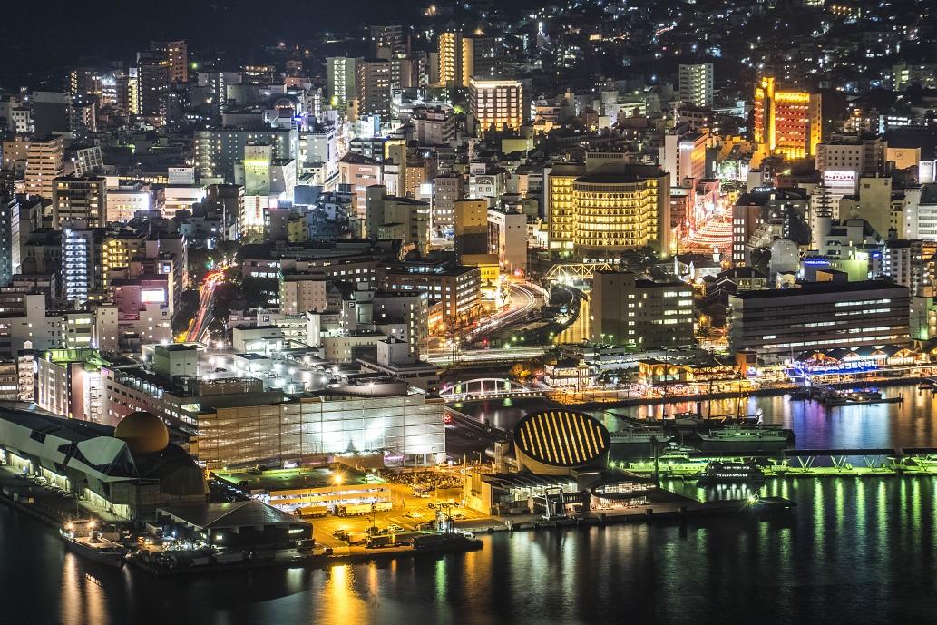 稲佐山山頂展望台 「ビュータワー」からの長崎の夜景