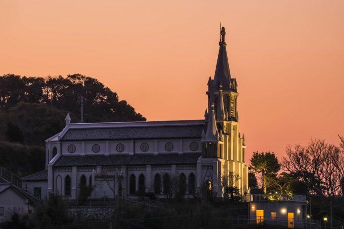 長崎・伊王島の馬込教会(沖之島教会