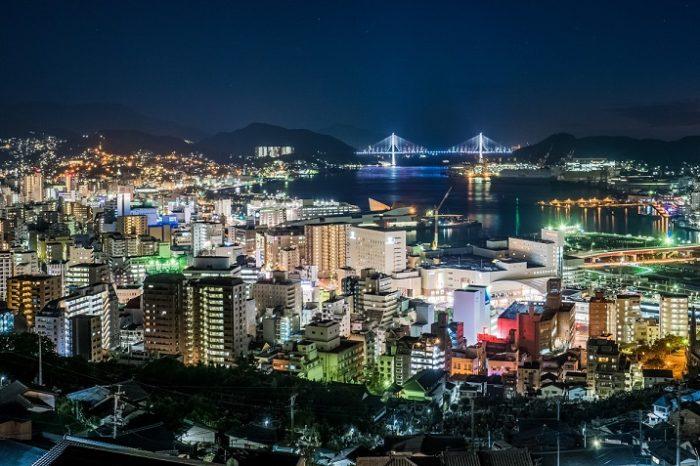 にっしょうかん周辺・立山の夜景(長崎市)【夜のドライブに最適!】