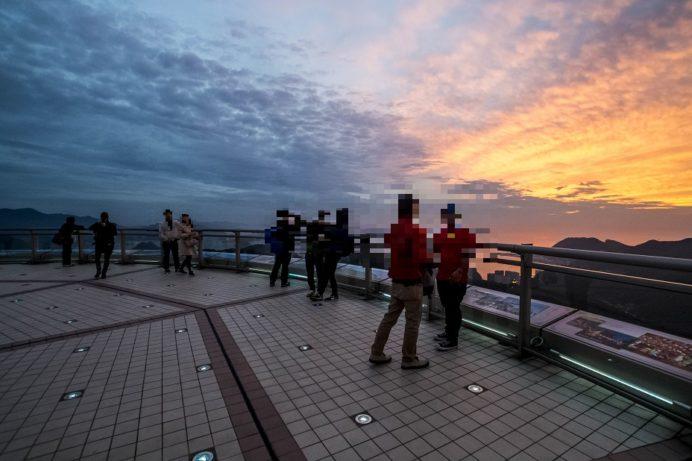 稲佐山山頂展望台「ビュータワー」からの夕景