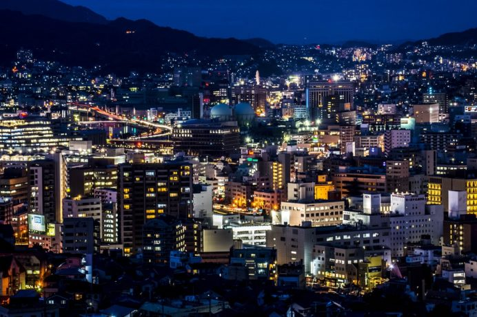 どんの山からの新世界三大夜景認定の長崎の夜景