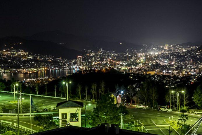あたご自動車学校前の夜景