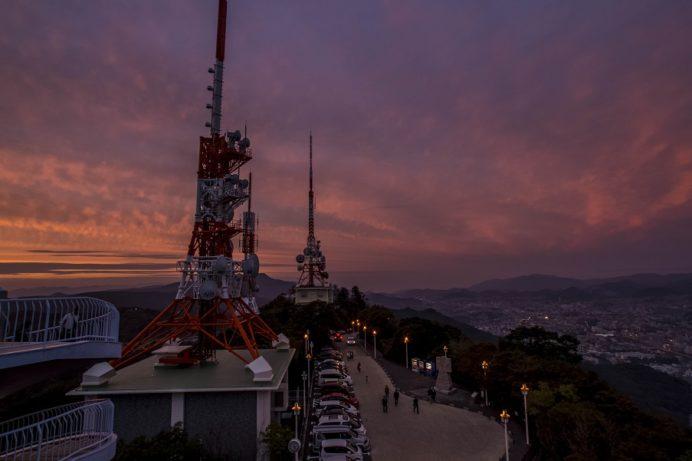 稲佐山山頂展望台 「ビュータワー」からの長崎の夕景
