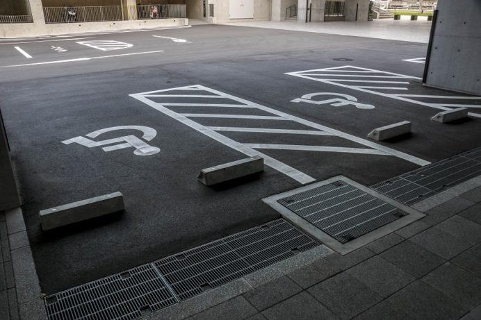 長崎県庁の障害者用駐車場