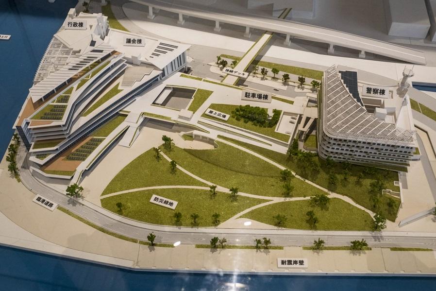 長崎県庁新庁舎の模型