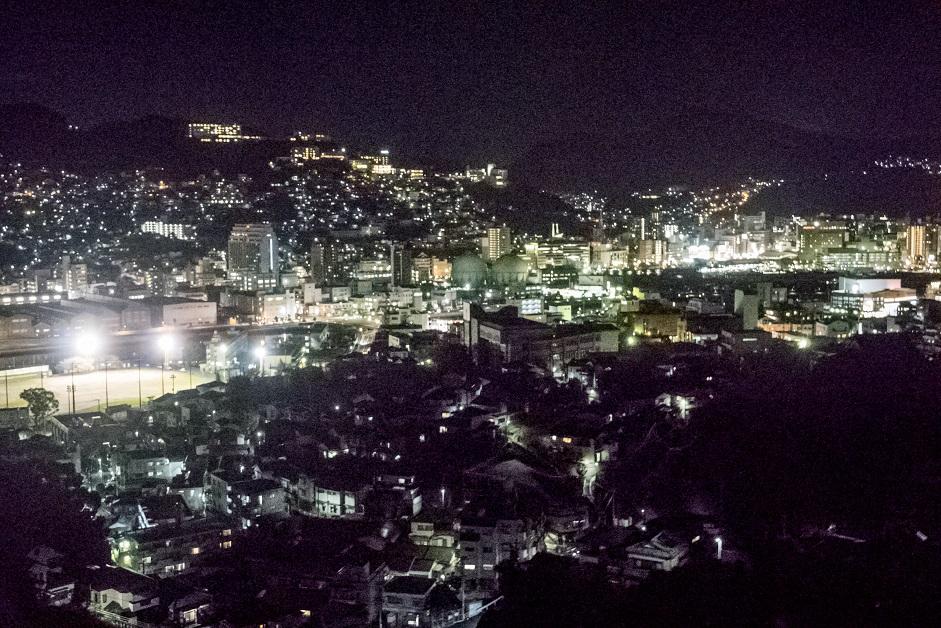 長崎ロープウェイからの長崎の夜景