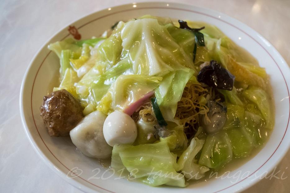 「宝来軒別館の海鮮皿うどん(細麺)」~長崎で5指に入る中華繁盛店。でも有名店ほど味はイマイ…じゃネーヨ!納得のハイクオリティだった!