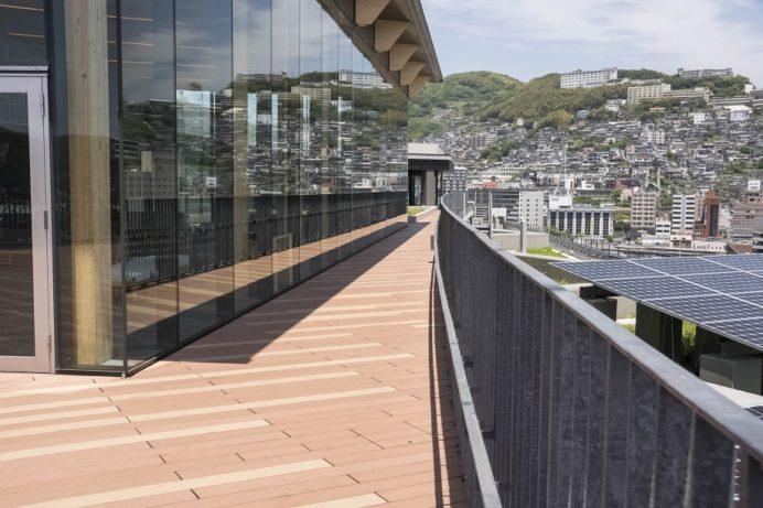 長崎県庁新庁舎8階展望室