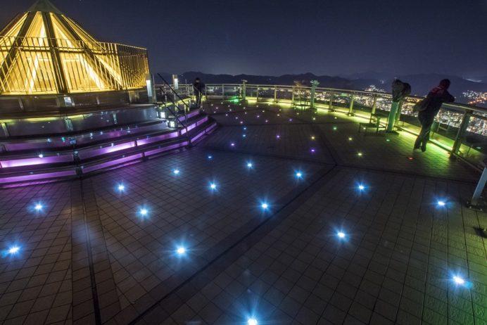 稲佐山山頂展望台 「ビュータワー」のイルミネーション