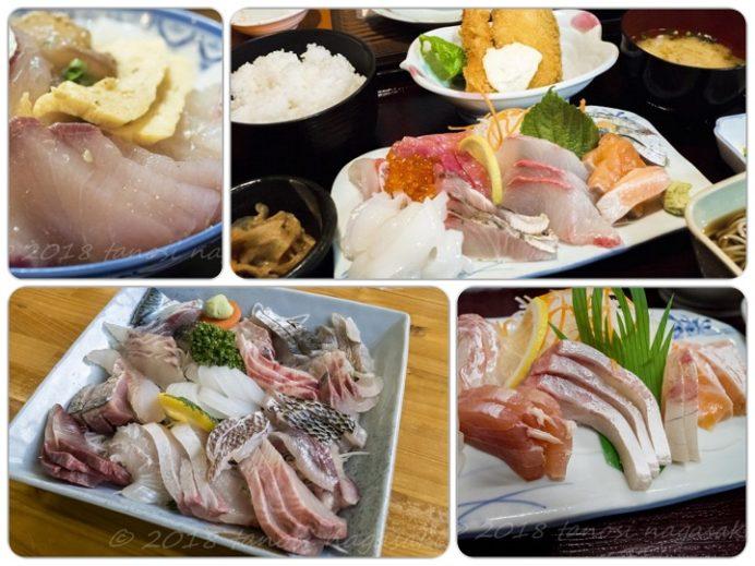 お食事の店 萬福、漁師食堂 母々の手、西端夢浪漫の勝手丼