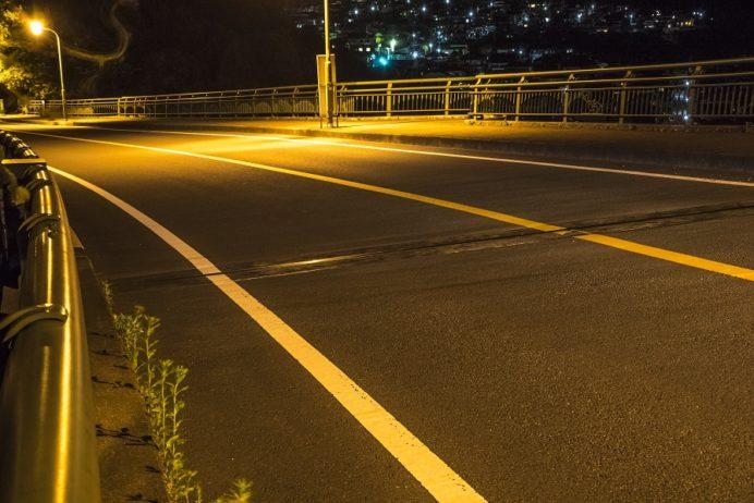 稲佐登山道路・グリーンブリッジからの夜景