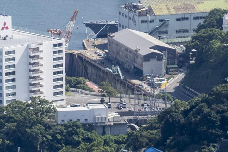 稲佐山展望台からの第三船渠