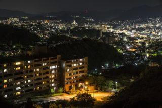 「稲佐登山道路・グリーンブリッジからの夜景」~ドライブ専用POINT
