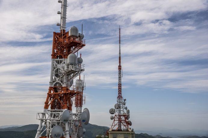 稲佐山展望台からのテレビ塔